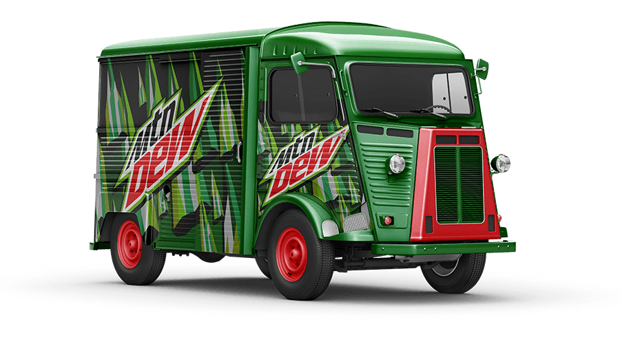 Promovan Mountain Dew HY Van Mockup