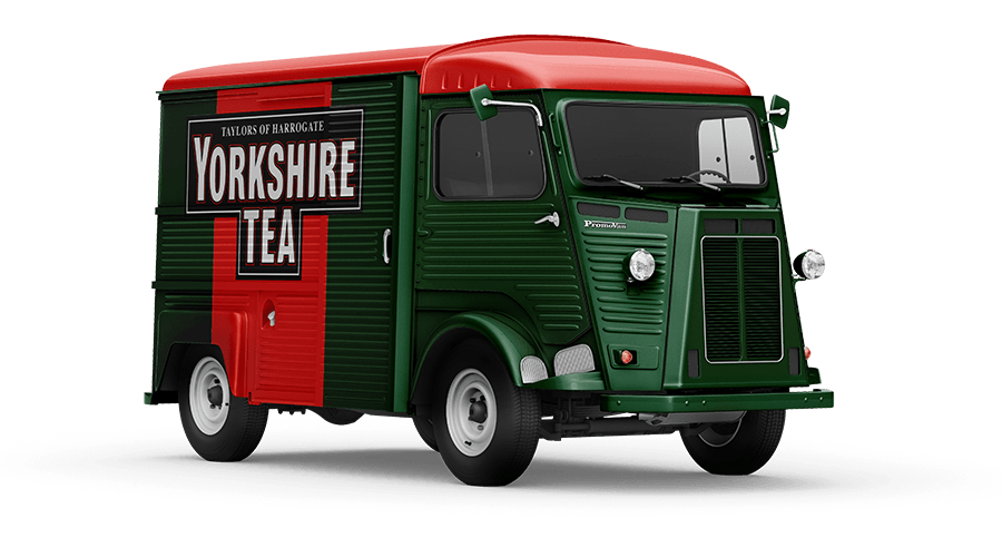Promovan Yorkshire Tea HY Van Mockup